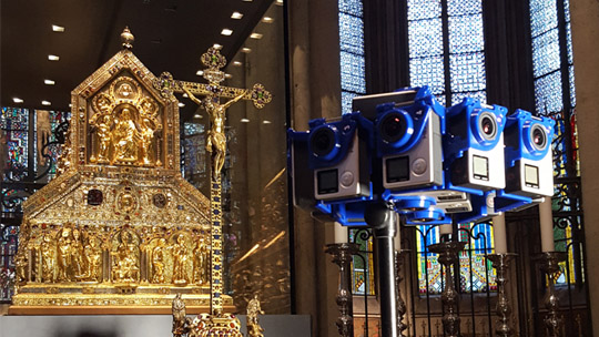 #360° Filming in the dome, cologne